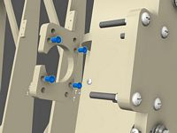 Fasten nut inserts into the Y axis stepper motor mount